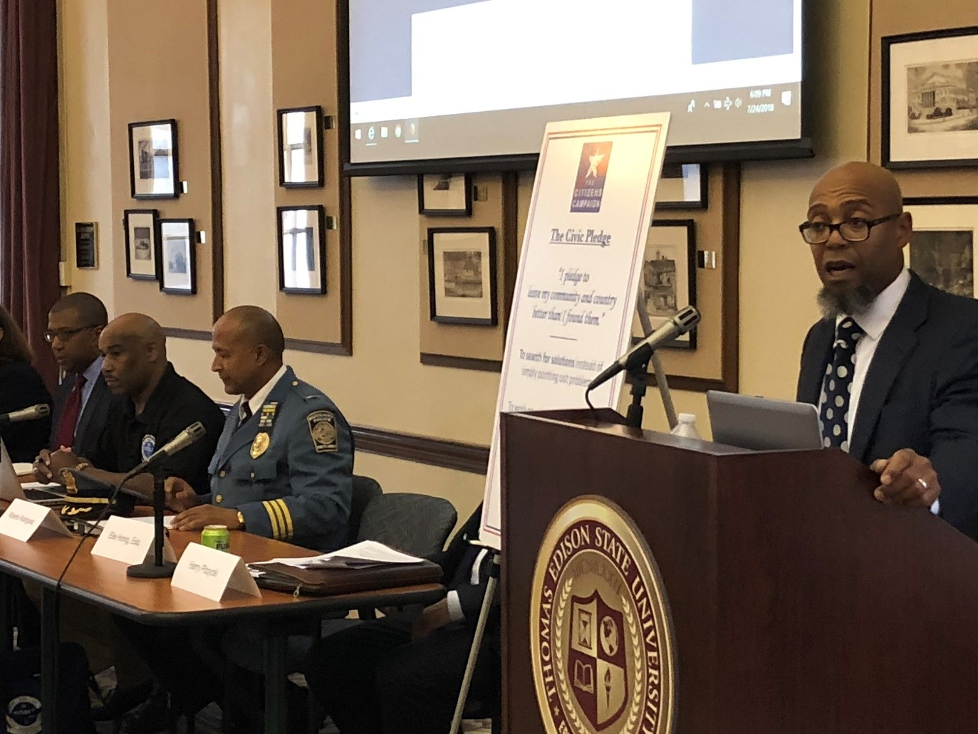 Solutions Forum on police/community relations at Thomas Edison State University